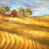 Oil painting Iowa Fields by Karen Spears