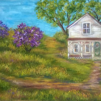 Oil painting Lilacs by Karen Spears