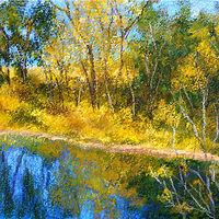 Oil painting Prairie Pond by Karen Spears