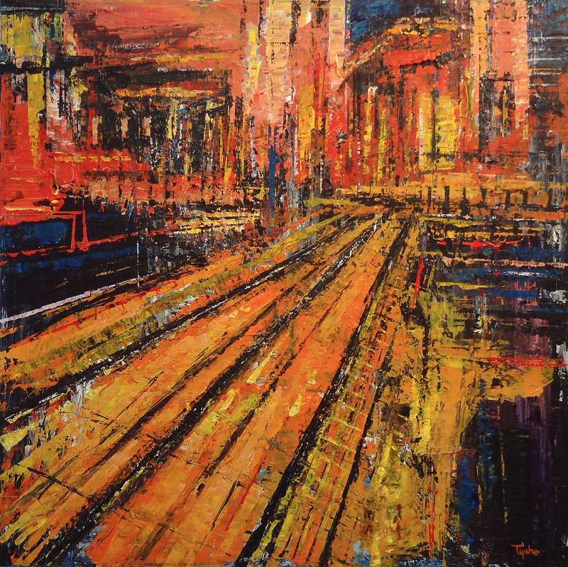 Acrylic painting Terminus #5  by David Tycho