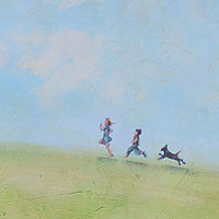 Acrylic painting Summer Days by Sally Adams