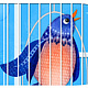 b is for Bird and Birdcage by Valerie Lesiak