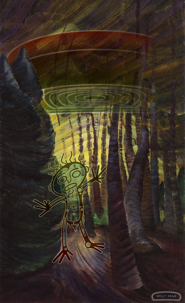 Painting Beware of the intentions of well meaning Aliens by Sonny  Assu