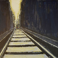 Acrylic painting Terminus #2  by David Tycho