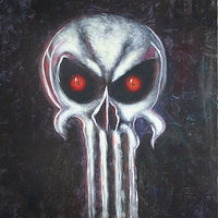 Acrylic painting Punisher by George Servais