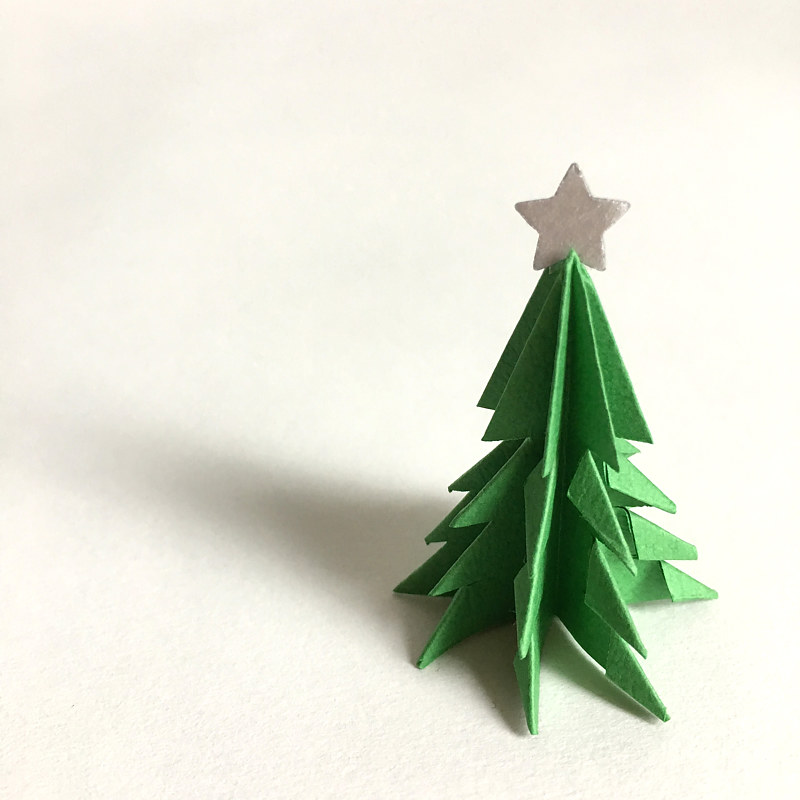 Drawing Mini Paper Tree with Star by Erin  Mackeen