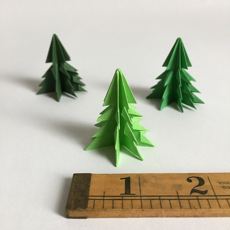 Drawing Mini Paper Trees by Erin  Mackeen