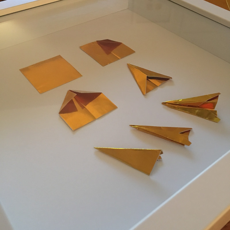 Oil painting How to Fold a Paper Airplane (custom) by Erin  Mackeen