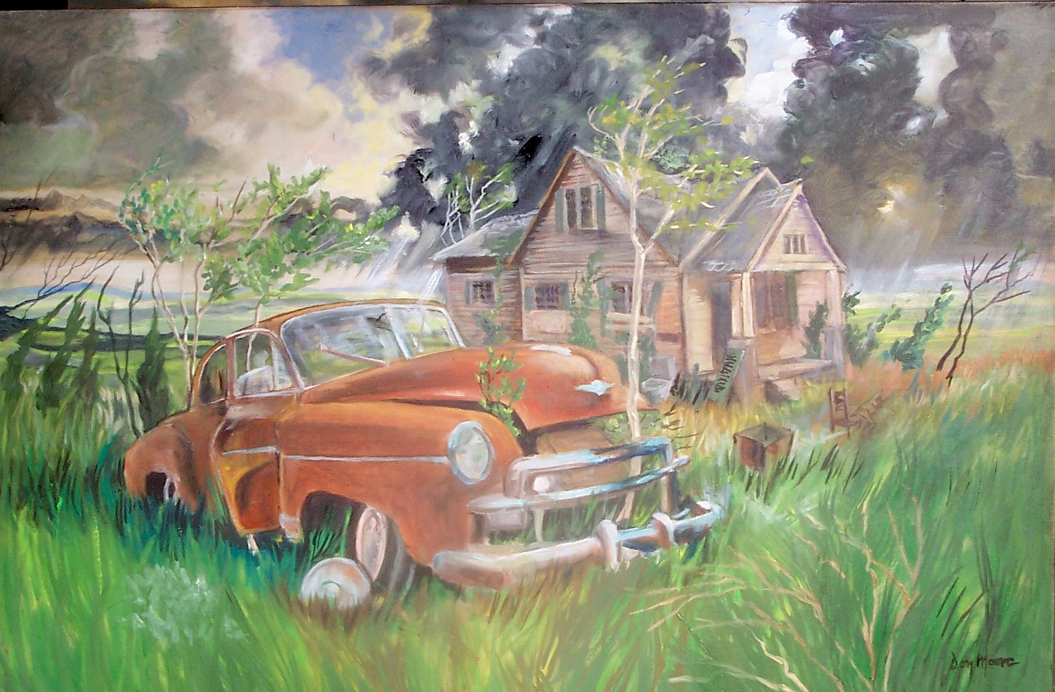 Landscape with 49 Chevy by Don Moore