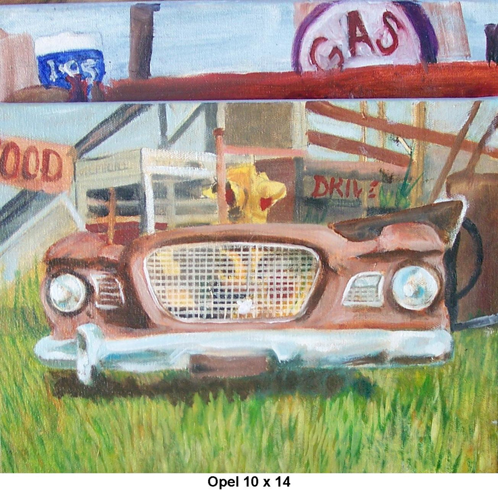 Oil painting Opel  by Don Moore