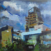 Oil painting Highrise by William Sharp