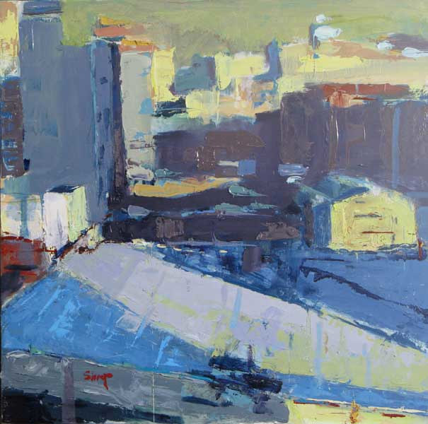 Oil painting Buenos Aires Rooftops by William Sharp
