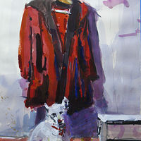 Watercolor Miki with Red Coat NFS by William Sharp