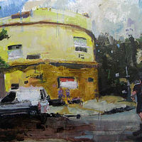 Oil painting Buenos Aires Corner by William Sharp