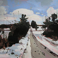 Acrylic painting February Morning by Harry Stooshinoff