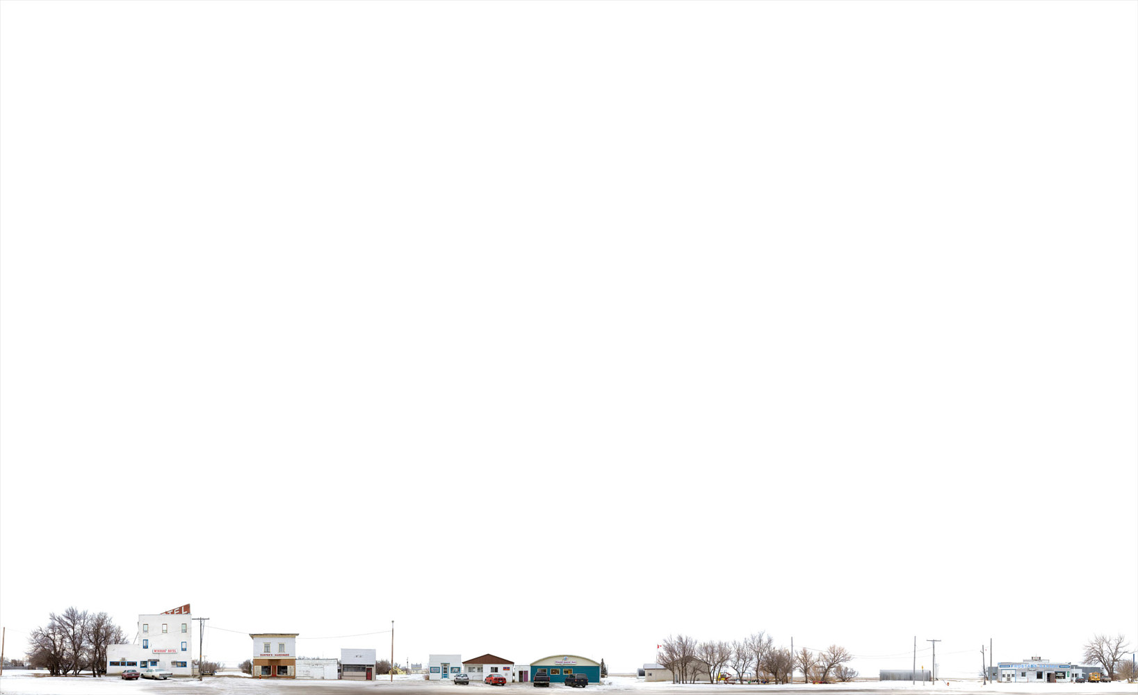 Print Kincaid SK.winter sky 43.5X71.5  2008 by Danny Singer