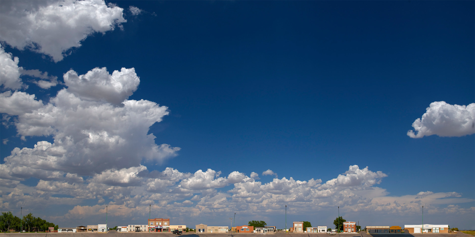 Print Shaunavon Sky. 43X86  2014 by Danny Singer