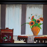 Acrylic painting Still Life Port Orford OR-18x24 by Frans Geerlings