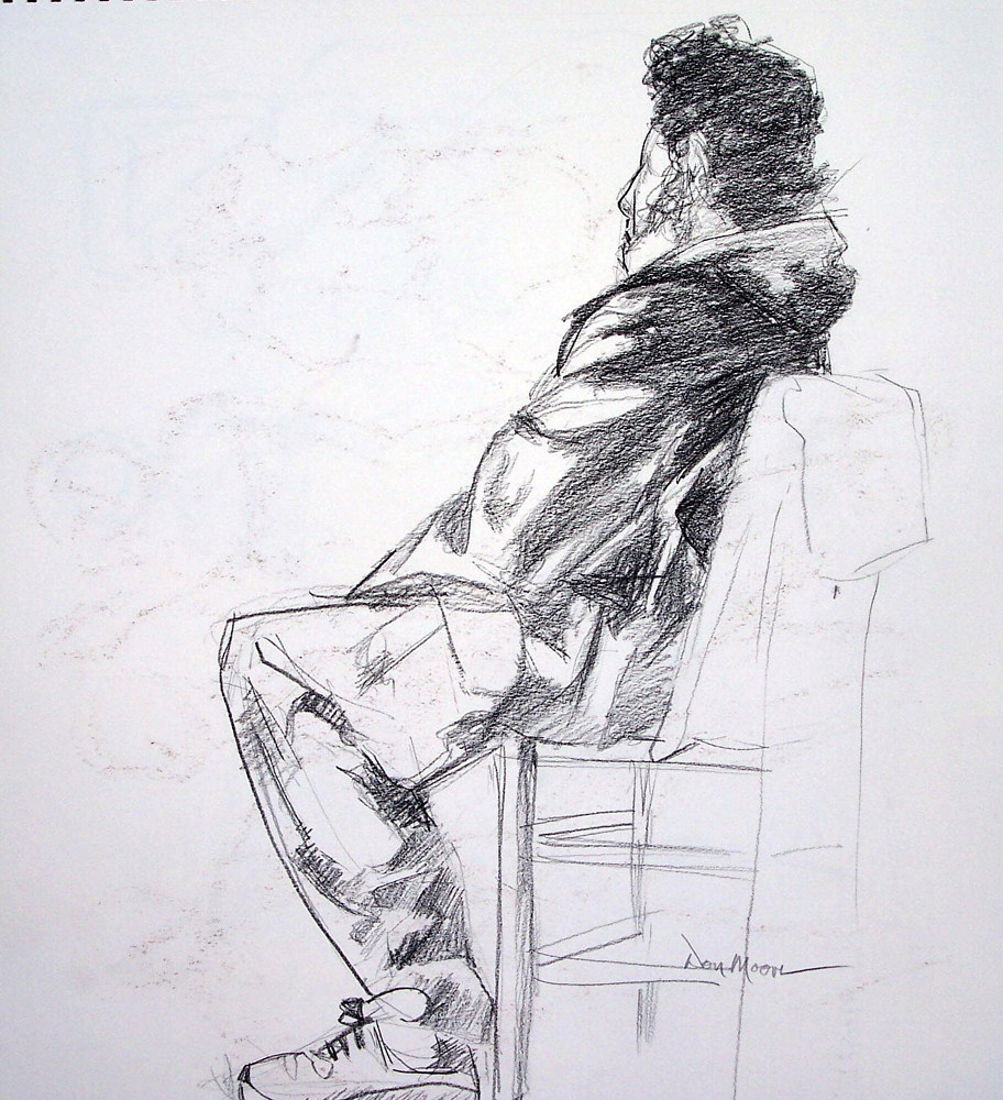 George Seated - 20 x 17  by Don Moore