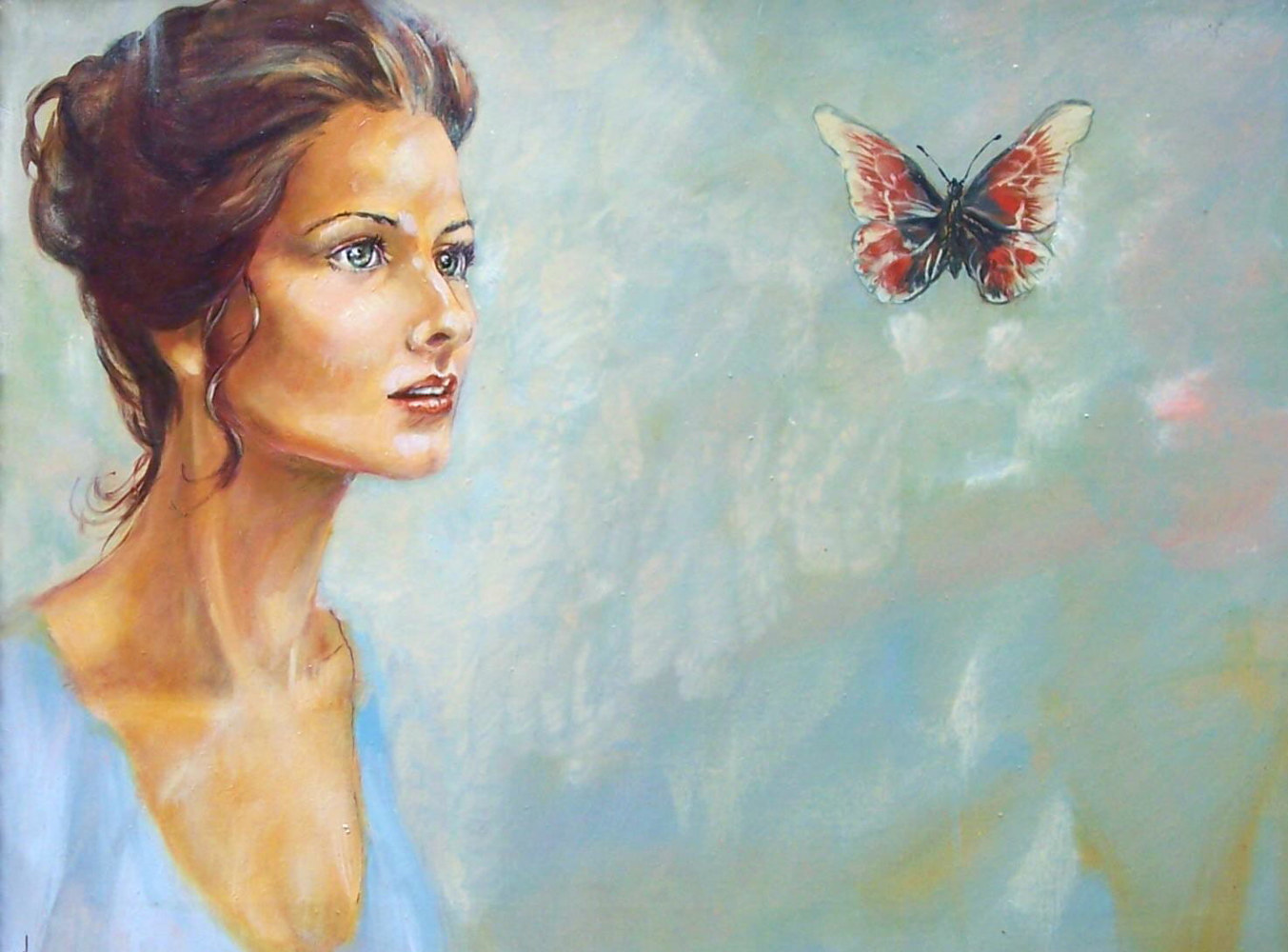 Butterfly Girl24x30 - oil by Don Moore