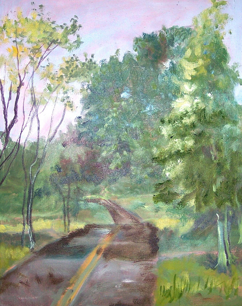 Country Road - 12 x 9 by Don Moore