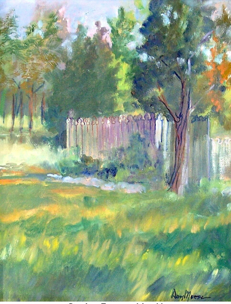 Garden Fence - 14 x 11 by Don Moore