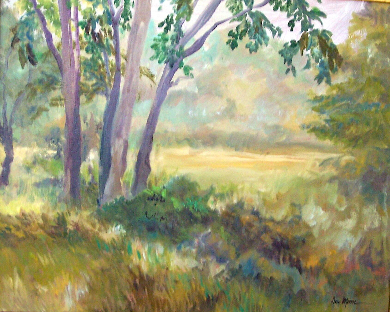 Peaceful meadow - 16 x 20 by Don Moore