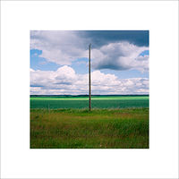 "Archival pigment print  18X18"" 2004   Pole 09.Set 1  by Danny Singer"