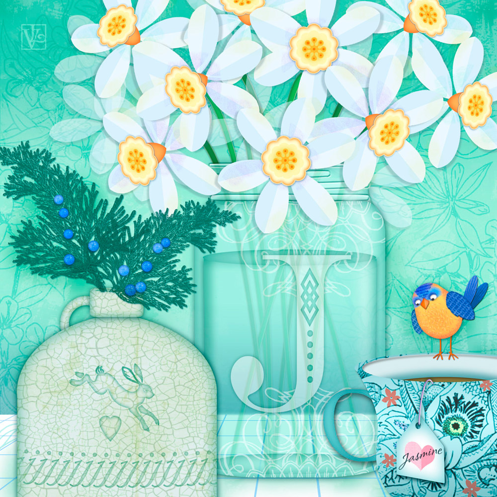 J is for Jar of Jonquils  by Valerie Lesiak