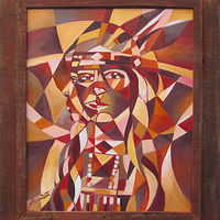 "Oil painting ""Indian Vision"" by Christine Garrison"