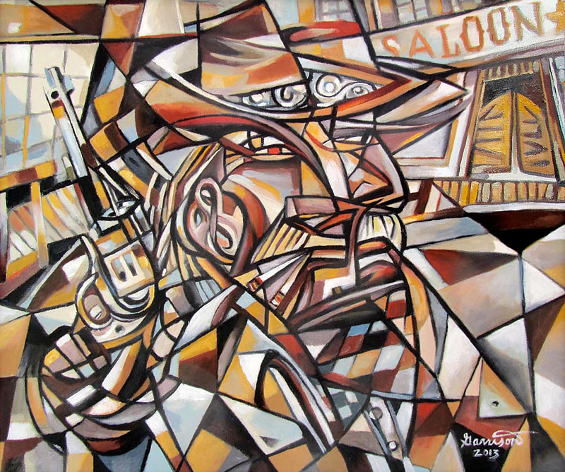 "Oil painting ""Gunslinger"" by Christine Garrison"