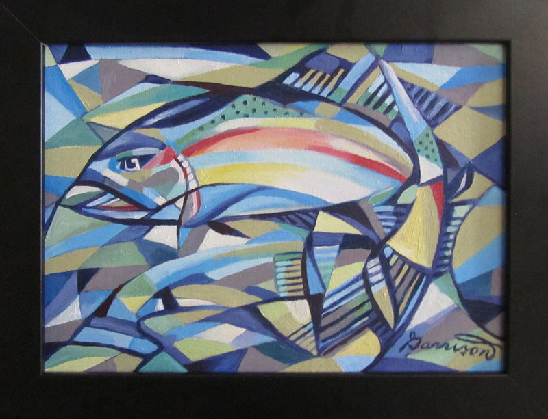 "Oil painting ""Rainbow Trout"" by Ben Garrison"