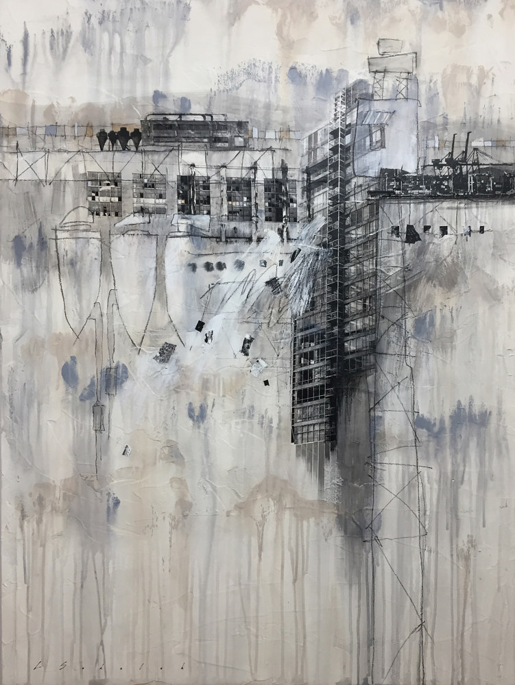 Painting The Edge Of Urban Time by Lori Sokoluk