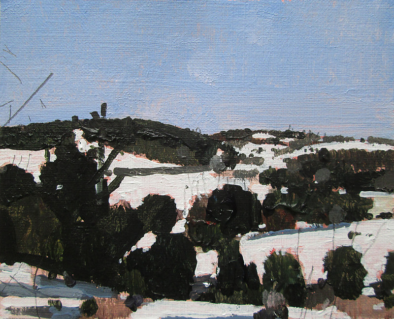 Acrylic painting To Tommy's Hill by Harry Stooshinoff