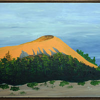 Acrylic painting Oregon Dune -16x20 by Frans Geerlings