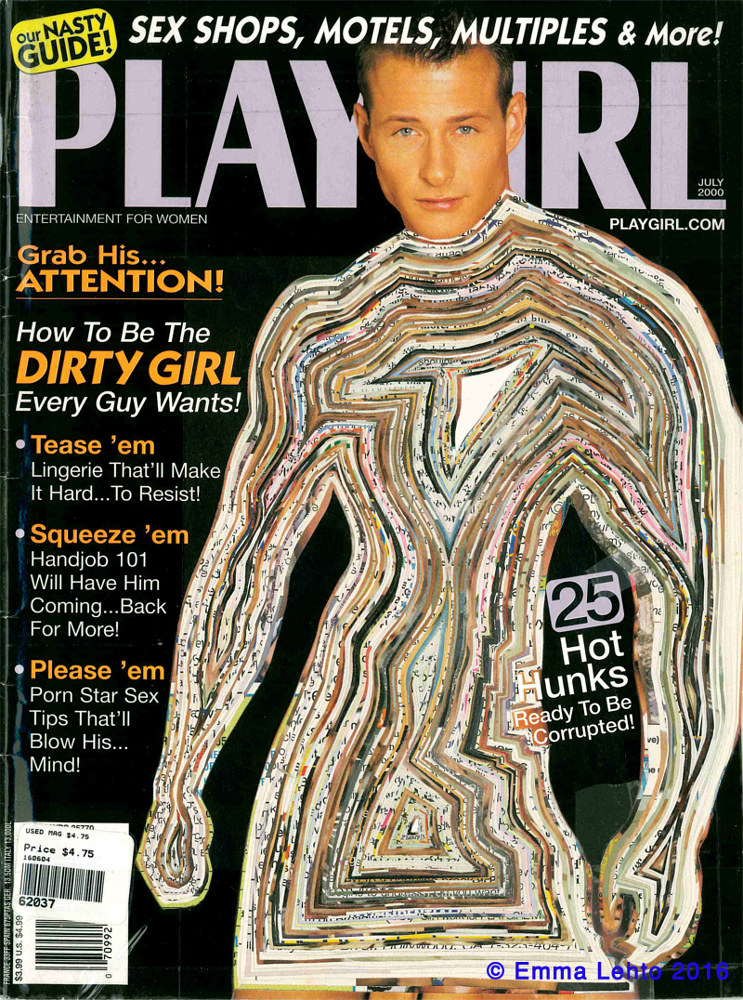 Sculpture Rejected: Playgirl Magazine  ( #2 )  by Emma Lehto