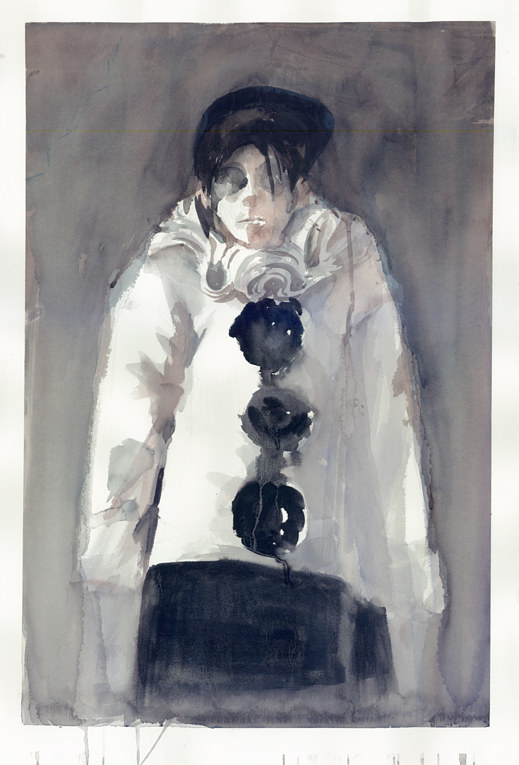 Watercolor Unknown Pierrot by Mary Hayes
