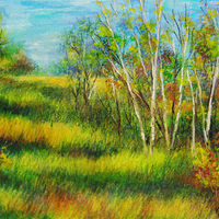 Oil painting Birches by Karen Spears