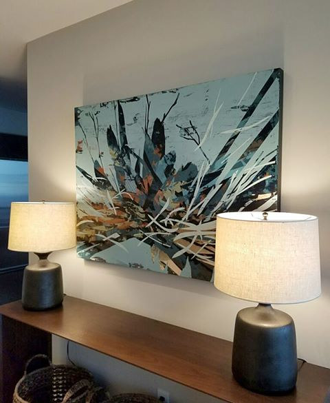 """Aquis #4"" in a downtown Chicago high-rise by Robert Porazinski"
