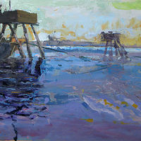 Oil painting Kelly Point Park - SOLD by William Sharp