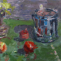 Oil painting Turp Can by William Sharp