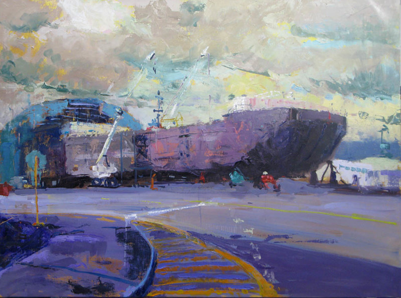 Oil painting Betsy Arntz Under Construction by William Sharp