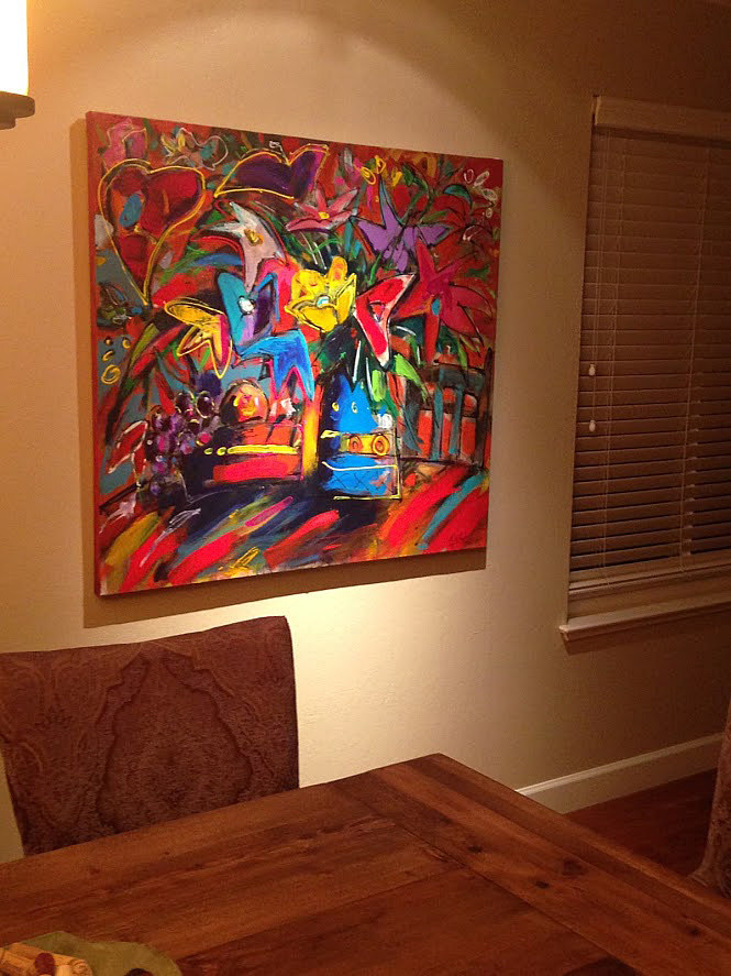 Paintings in Walnut Creek collectors home by Allen  Wittert