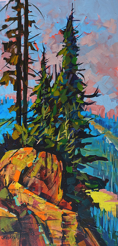 Above the Valley, Whistler   15x30 Acrylic 2017 by Brian  Buckrell
