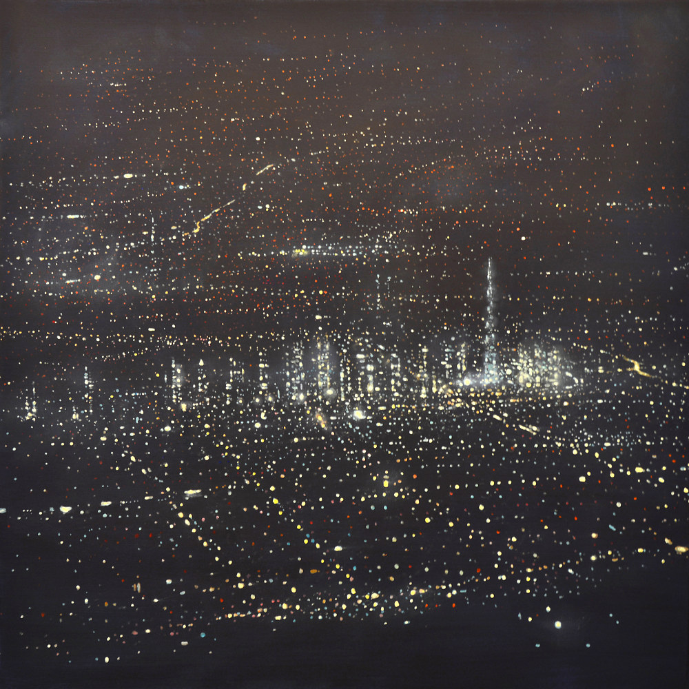 Oil painting DUBAI (SKYLINE) by Dennis Ekstedt