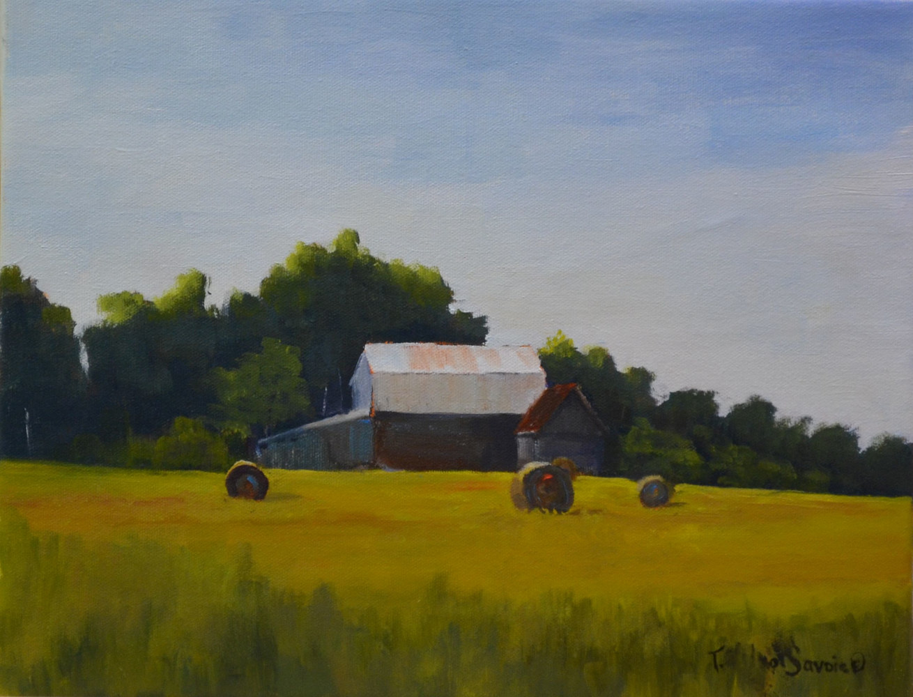 Farm Fresh - oil on canvas, 11 x 14 - class demo     11  0716 by Patricia Savoie