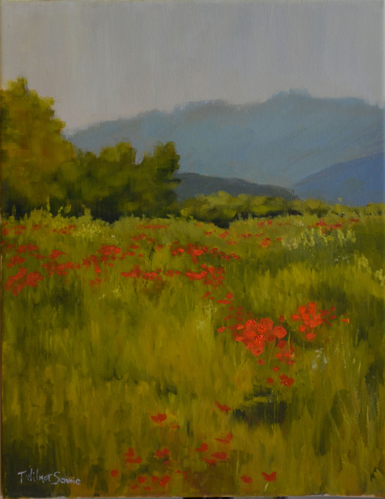 Rolling in Red - oil on canvas 20 x 16  5-0516 by Patricia Savoie