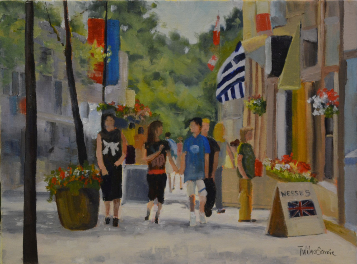 No Finer Day (Canada Day) oil on canvas 12 x 16  15-0615 by Patricia Savoie