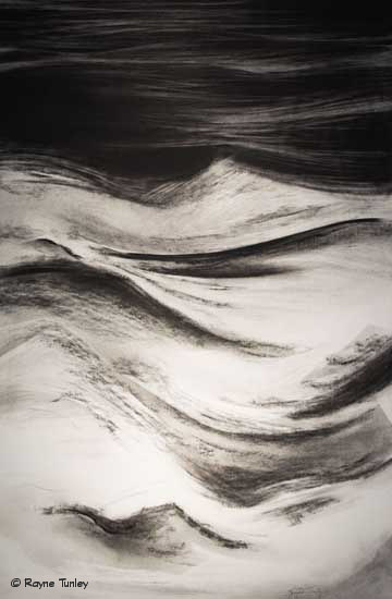 "Rayne Tunley, ""Blizzard Metamorphosis"", 20in x 26in, Charcoal by Rayne Tunley"