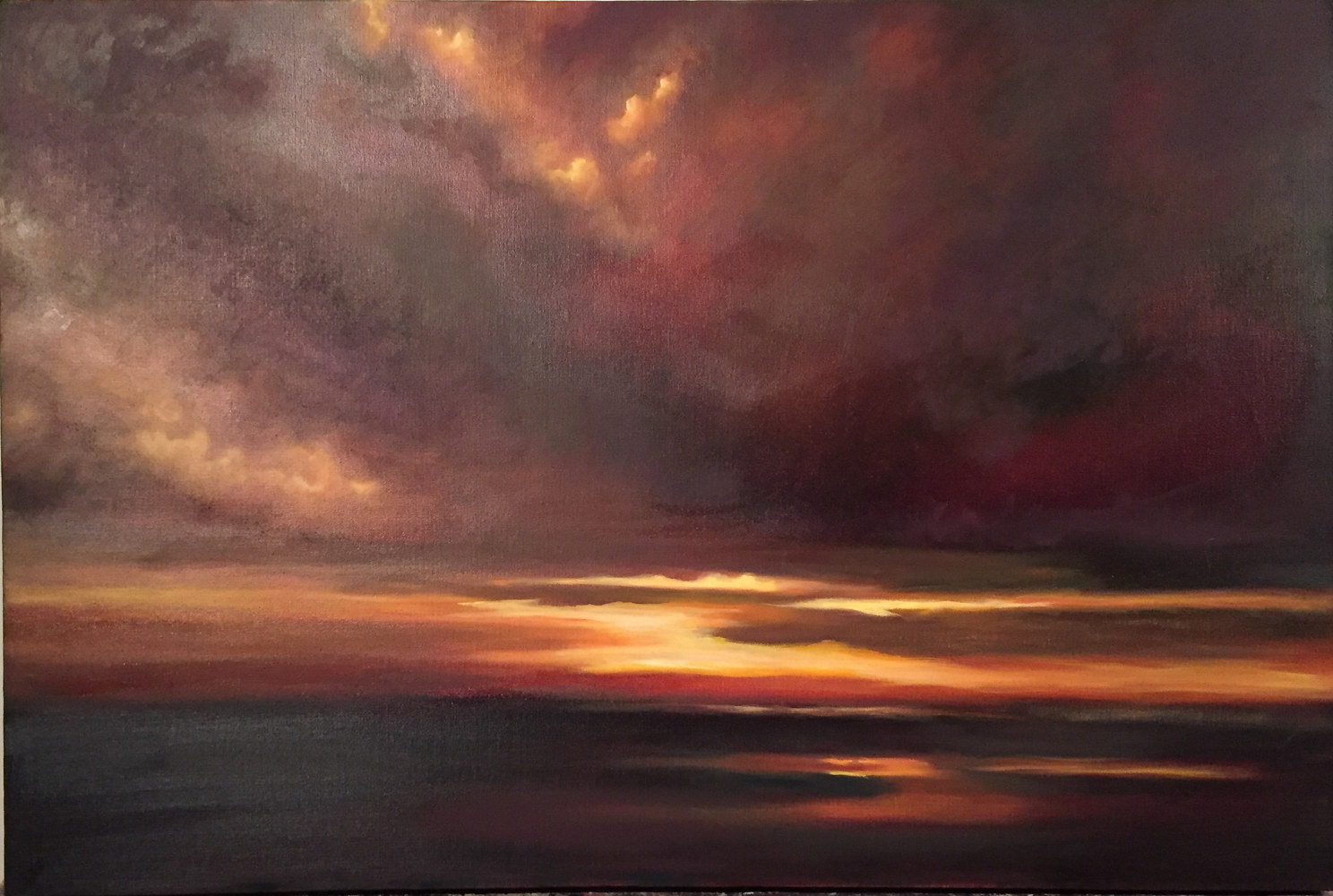 Oil painting Grand Finale by Jeanie Bates